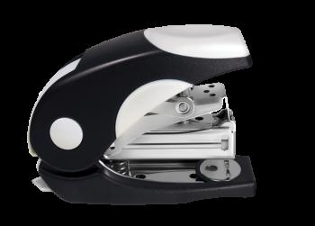 <p>Mini zszywacz w obudowie z tworzywa sztucznego, części mechaniczne metalowe. Zszywa do 20 kartek.</p>