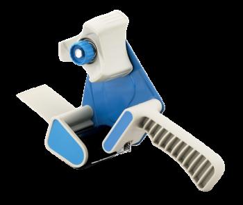 <p>Oklejarka bardzo pomocna przy oklejaniu kartonów taśmą pakową, wyposażona w regulację naciągu taśmy oraz hamulec.</p>