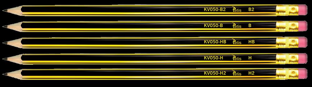 <p>Tradycyjny, drewniany ołówek z gumką.</p>