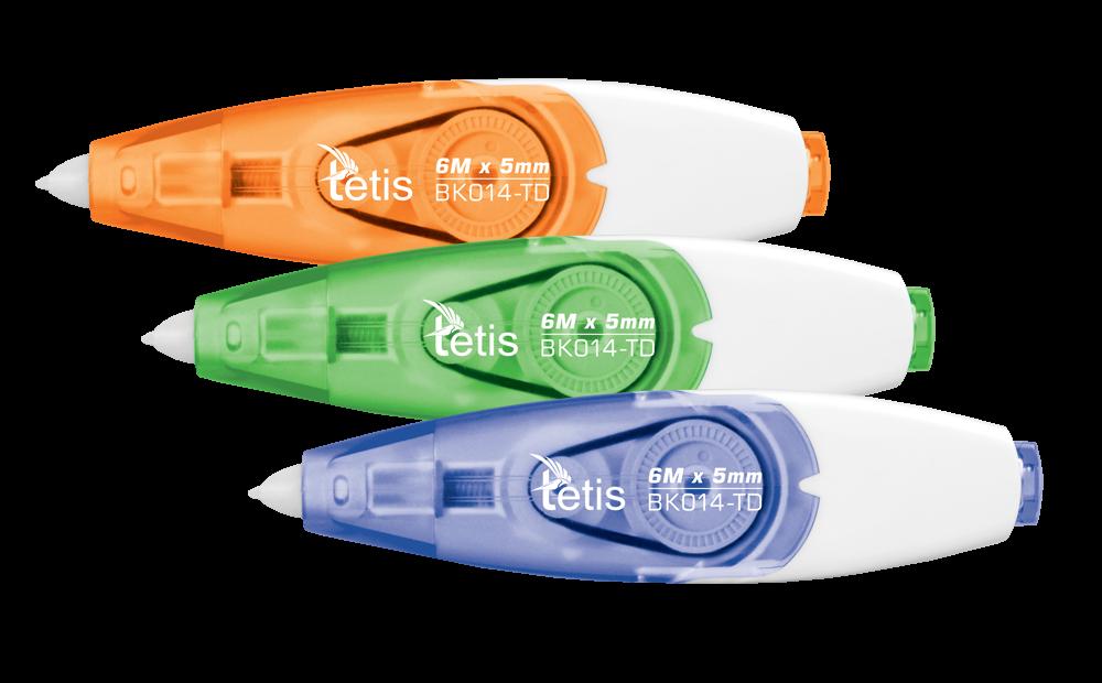 <p>Korektor w taśmie o ergonomicznym, nowoczesnym kształcie. Ulepszony system korekcji umożliwia natychmiastowe pisanie każdym rodzajem długopisu.</p>