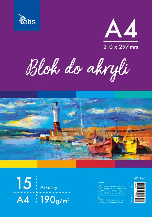 <p>Blok do akryli w formacie A4, gramatura papieru 190 g/m².</p>