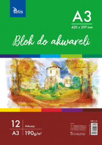 <p>Blok do akwareli w formacie A3, gramatura papieru 190 g/m².</p>