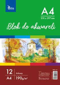 <p>Blok do akwareli w formacie A4, gramatura papieru 190 g/m².</p>