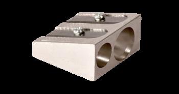 <p>Temperówka metalowa, idealna również do miękkich grafitów z dwoma otworami o średnicy (11mm, 8 mm).</p>