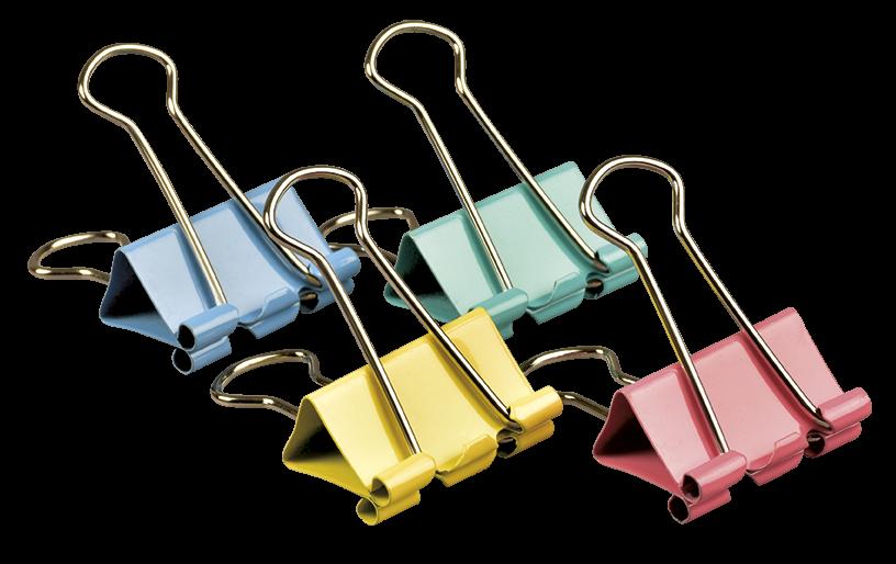 <p>Kolorowe klipy biurowe wykonane ze stali nierdzewnej.</p>